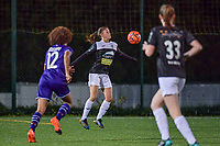 Aalst's forward Anaelle Wiard (16) pictured during a female soccer game between RSC Anderlecht Dames and Eendracht Aalst Ladies  on the fourth matchday of the 2020 - 2021 season of Belgian Womens Super League , Tuesday 13 th of October 2020  in ANDERLECHT , Belgium . PHOTO SPORTPIX.BE | SPP | STIJN AUDOOREN