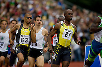 EUGENE, OR--From right, Khavedis Robinson, Gary Reed race in the men's 800m at the Steve Prefontaine Classic, Hayward Field, Eugene, OR. SUNDAY, JUNE 10, 2007. PHOTO © 2007 DON FERIA