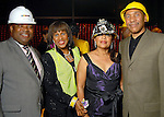 From left: Larry Earl Jr., Melanie Lawson, Ellena Stone Huckaby and John Guess Jr. at the Houston Museum of African American Culture held at the Ensemble Theater Thursday Oct. 22,2009. (Dave Rossman/For the Chronicle)