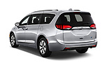 Car pictures of rear three quarter view of 2017 Chrysler Pacifica-Hybrid Platinum 5 Door Minivan Angular Rear
