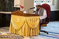 Imam Conducting a Class in Quranic Studies, Ubudiah Mosque, Kuala Kangsar, Malaysia.