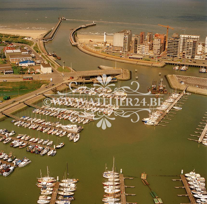 Juni 1990. Jachthaven van Blankenberge.