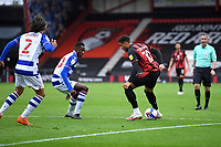 Arnaut Danjuma of AFC Bournemouth right takes on Alfa Semedo and Tomas Esteves of Reading during AFC Bournemouth vs Reading, Sky Bet EFL Championship Football at the Vitality Stadium on 21st November 2020