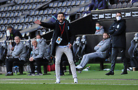 Huddersfield Town manager Carlos Corberán  shouts instructions from the technical area<br /> <br /> Photographer Ian Cook/CameraSport<br /> <br /> The EFL Sky Bet Championship - Swansea City v Huddersfield Town - Saturday 17th October 2020 - Liberty Stadium - Swansea<br /> <br /> World Copyright © 2020 CameraSport. All rights reserved. 43 Linden Ave. Countesthorpe. Leicester. England. LE8 5PG - Tel: +44 (0) 116 277 4147 - admin@camerasport.com - www.camerasport.com