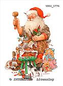 GIORDANO, CHRISTMAS SANTA, SNOWMAN, WEIHNACHTSMÄNNER, SCHNEEMÄNNER, PAPÁ NOEL, MUÑECOS DE NIEVE, paintings+++++,USGI1776,#X#