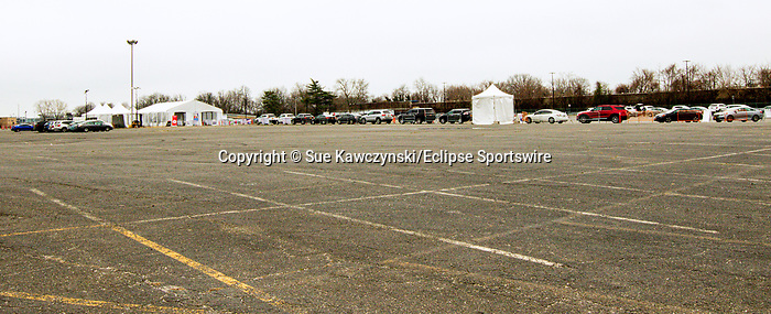 MARCH 30, 2020: COVID 19 testing taking place at Aqueduct Racecourse in Ozone Park, NY.  Sue Kawczynski/Eclipse Sportswire/CSM