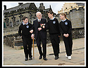 02/06/2008   Copyright Pic: James Stewart.File Name : sct_jspa10_veterans.FORMER ROYAL ENGINEER, LIEUTENANT COLONEL FRANK SAUNDERS, 101, TELLS SOME OF HIS WAR STORIES TO RYAN REYNOLDS, EUAN WEST AND DAYNA MCQUILLIAN FROM CORNTON PRIMARY AT THE VETERANS DAY EVENT LAUNCH AT STIRLING CASTLE.....James Stewart Photo Agency 19 Carronlea Drive, Falkirk. FK2 8DN      Vat Reg No. 607 6932 25.Studio      : +44 (0)1324 611191 .Mobile      : +44 (0)7721 416997.E-mail  :  jim@jspa.co.uk.If you require further information then contact Jim Stewart on any of the numbers above........