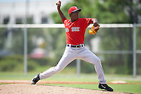 Boston Red Sox pitcher Joan Martinez (61) during an Instructional League game against the Minnesota Twins on September 24, 2016 at CenturyLink Sports Complex in Fort Myers, Florida.  (Mike Janes/Four Seam Images)