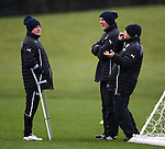 Ian Durrant on crutches