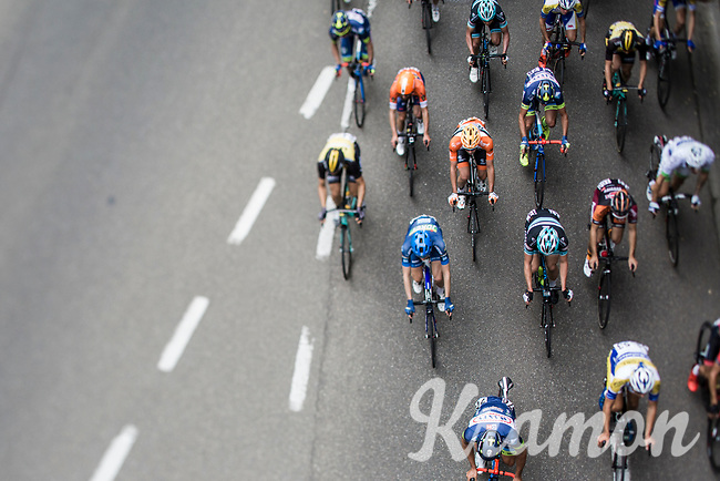 Peloton from above. <br /> <br /> 51th GP Jef 'Poeske' Scherens 2017 <br /> Leuven - Leuven (13local laps/153.7km)