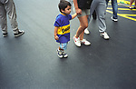 Buenos Aires Argentina Young football fan arrives at stadium South America 2000s 2002