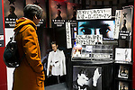 A man looks at the discography of David Bowie on sale at Tower Records in Shibuya on January 12, 2016, Tokyo, Japan. Tower Records created a special section for the British singer, songwriter and actor David Bowie, who died of cancer at the age of 69 on January 10, 2016. His recently released album Blackstar is now sold out in Japan. (Photo by Rodrigo Reyes Marin/AFLO)