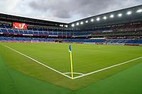 YOKOHAMA, JAPAN - JULY 30: International Stadium Yokohama before a game between Netherlands and USWNT at International Stadium Yokohama on July 30, 2021 in Yokohama, Japan.