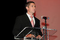 DC United defender Devon McTavish recipient of the US Soccer Foundation/MLS W.O.R.K.S. Humanitarian of the Year.    At the 6th Annual DC United Awards Presentation ,at the Atlas Performing Arts Center in Washington DC ,Wednesday October 27, 2009.