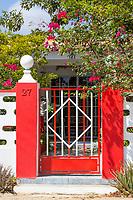 Kralendijk, Bonaire, Leeward Antilles.  Gateway to Middle-class House.
