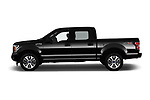 Car Driver side profile view of a 2018 Ford F-150 XL-SuperCrew 4 Door Pickup Side View