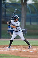 AZL White Sox shortstop Camilo Quintero (1) at bat during an Arizona League game against the AZL Dodgers at Camelback Ranch on July 7, 2018 in Glendale, Arizona. The AZL Dodgers defeated the AZL White Sox by a score of 10-5. (Zachary Lucy/Four Seam Images)