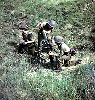 summer 1944 - Canadian mortar team in action in France