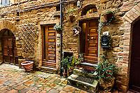 Doors in Volterra, Italy