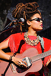 Valerie June performs at the 2014 Bumbershoot festival in Seattle, WA