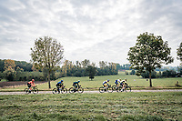 breakaway group on the Paddestraat<br /> <br /> 104th Ronde van Vlaanderen 2020 (1.UWT)<br /> 1 day race from Antwerpen to Oudenaarde (BEL/243km) <br /> <br /> ©kramon