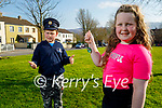 8 year old Grace Roche from Ashgrove  Tralee, who during lockdown made jewellery and sold it and raised €425.00 for The Little Blue Heroes charity, pictured standing with her twin Adam.