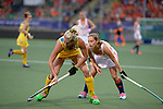 The Hague, Netherlands, June 07: (R) Kelly Jonker #10 of The Netherlands in action during the field hockey group match (Group A) between Australia and The Netherlands on June 7, 2014 during the World Cup 2014 at Kyocera Stadium in The Hague, Netherlands. Final score 0-0 (0-2) (Photo by Dirk Markgraf / www.265-images.com) *** Local caption ***
