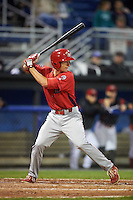 Williamsport Crosscutters third baseman Lucas Williams (12) at bat during a game against the Batavia Muckdogs on September 1, 2016 at Dwyer Stadium in Batavia, New York.  Williamsport defeated Batavia 10-3. (Mike Janes/Four Seam Images)