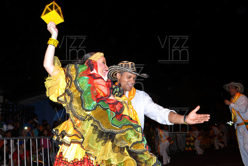 BARRANQUILLA-COLOMBIA-21-02-2014. 'La Guacherna'  desfile traditional del carnaval de Barranquilla que se cerebra anualmente. / 'La Guacherna' , is one of the most traditional parades that takes part in 'El carnival de Barranquilla'. Photo: VizzorImage/Alfonso Cervantes/STR