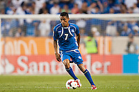 El Salvador midfielder Darwin Ceren (7) during a CONCACAF Gold Cup group B match at Red Bull Arena in Harrison, NJ, on July 8, 2013.