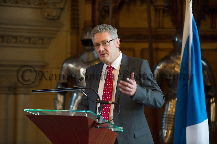 Fergus Ewing, Minister for Energy, Enterprise & Tourism hosted a dinner this evening within the Great Hall, Edinburgh Castle ahead of the Global Carbon Capture Institutes (GCCSI) Europe, Middle East and Africa Members meeting tomorrow 23/05/2013.Pic Kenny Smith, Kenny Smith Photography.6 Bluebell Grove, Kelty, Fife, KY4 0GX .Tel 07809 450119,