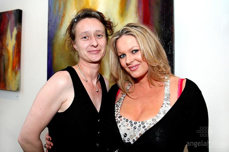 "Naomi Brosnan & Amanda Brunker @ Naomi Brosnan exhibition ""Promises That Were Made"" at Origin Gallery..Pic Angela Halpin"
