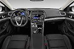 Stock photo of straight dashboard view of2016 Nissan Maxima SV 4 Door Sedan Dashboard