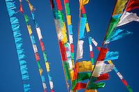 Prayer Flags on the Kora at Ganden Monastery in Tibet