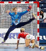 SERBIA, Belgrade: Brazil's goalkeeper Barbara Arenhart during handball Women's World Championship semi-final match between Brazil and Denmark in Belgrade, Serbia on Friday, December 20, 2013. (credit image & photo: Pedja Milosavljevic / STARSPORT / +318 64 1260 959 / thepedja@gmail.com)