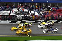 Ron Fellows brings the winning car (#2) across the finish line.. 39th Rolex 24 at Daytona, 3/4 February,2001 Daytona International Speedway  Daytona Beach,Florida,USA.©F.Peirce Williams 2001 ..
