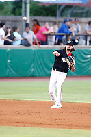 Chattanooga Lookouts Felix Jorge (35) throws to first base during the game against the Montgomery Biscuits on May 26, 2018 at AT&T Field in Chattanooga, Tennessee. (Andy Mitchell/Four Seam Images)