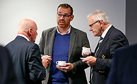 10th October 2019   Syd Millar Pathway<br /> <br /> Stephen Hilditch, Jonny Petrie and Ian McIlwrath during the official opening of the Syd Millar Pathway at Kingspan Stadium, Ravenhill Park, Belfast, Northern Ireland. Photo by John Dickson / DICKSONDIGITAL
