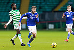 Celtic v St Johnstone…06.12.20   Celtic Park      SPFL<br />Shaun Rooney gets away from Odsonne Edouard<br />Picture by Graeme Hart.<br />Copyright Perthshire Picture Agency<br />Tel: 01738 623350  Mobile: 07990 594431