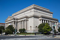 National Archives, Washington DC, USA.  The Declaration of Independence and the US Constitution are housed within this building.