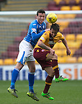 Motherwell v St Johnstone….07.05.16  Fir Park, Motherwell<br />Joe Shaughnessy and Scott McDonald<br />Picture by Graeme Hart.<br />Copyright Perthshire Picture Agency<br />Tel: 01738 623350  Mobile: 07990 594431