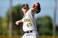 GCL Pirates pitcher Mitch Keller (65) throws live batting practice on June 27, 2014 at Pirate City in Bradenton, Florida.  (Mike Janes/Four Seam Images)