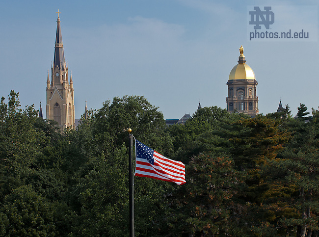 Jul. 3, 2012; South Quad flag..Photo by Matt Cashore/University of Notre Dame