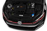 Car Stock 2018 Volkswagen Golf-GTI-Performance - 5 Door Hatchback Engine  high angle detail view