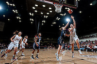 STANFORD, CA - NOVEMBER 17: Sarah Boothe scores two as Stanford hosted Old Dominion University at Maples Pavilion. The Cardinal defeated Big Blue 97-48.