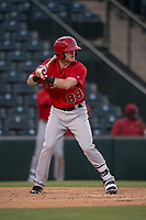 AZL Angels third baseman Justin Jones (88) at bat during an Arizona League game against the AZL Diamondbacks at Tempe Diablo Stadium on June 27, 2018 in Tempe, Arizona. The AZL Angels defeated the AZL Diamondbacks 5-3. (Zachary Lucy/Four Seam Images)