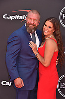 LOS ANGELES, USA. July 10, 2019: Paul Levesque & Stephanie McMahon-Levesque at the 2019 ESPY Awards at the Microsoft Theatre LA Live.<br /> Picture: Paul Smith/Featureflash