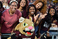 Texas State mascot and fans during first half of an NCAA Football game, Saturday, October 04, 2014 in San Marcos, Tex. Texas State leads Idaho 21-3 at the halftime(Mo Khursheed/TFV Media via AP Images)