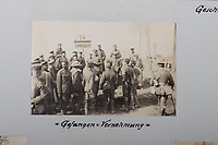 BNPS.co.uk (01202 558833)<br /> Pic: C&TAuctions/BNPS<br /> <br /> Pictured: A snapshot of captured British soldiers on the Somme in the early days of the German Spring Offensive in March 1918. <br /> <br /> Fascinating previously unseen World War One photos showing the conflict from the German perspective have come to light 103 years on.<br /> <br /> Major Hans Rudloff, a distinguished artillery officer, took hundreds of images of some of the major Western Front battles.<br /> <br /> There are scenes of destruction on the Verdun and at Cambrai, as well as snapshots of captured British soldiers on the Somme in the early days of the German Spring Offensive in March 1918.