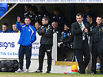 St Johnstone v Hibs....05.03.11 .Derek McInnes and Tony Docherty talk.Picture by Graeme Hart..Copyright Perthshire Picture Agency.Tel: 01738 623350  Mobile: 07990 594431